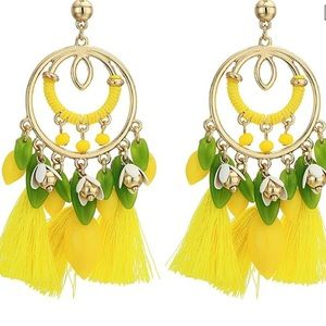 NWT Lilly Pulitzer Lemon Grove Earrings